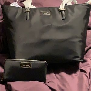 Kate Spade black handbag and wallet